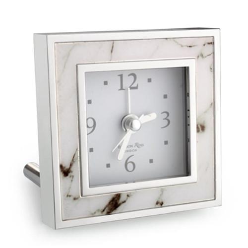Addison Ross White Marble Alarm Clock