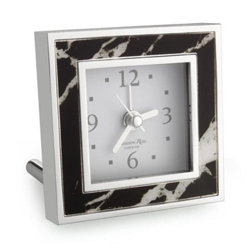 Addison Ross Black Marble Alarm Clock