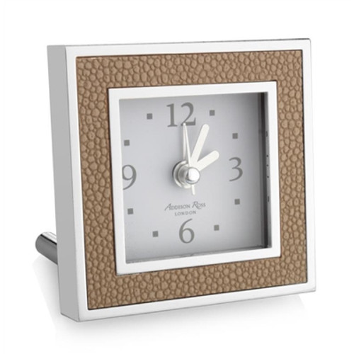 Addison Ross Shagreen Sand Alarm Clock