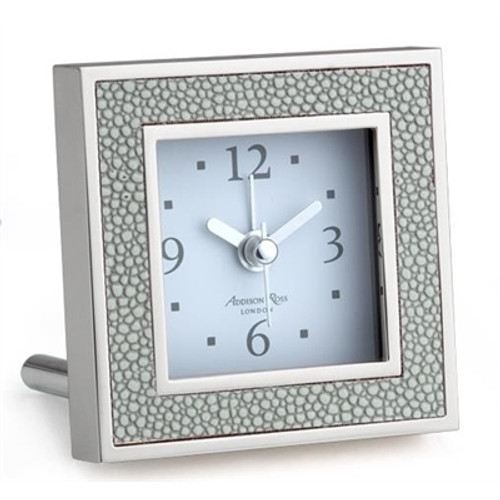 Addison Ross Shagreen Grey Alarm Clock