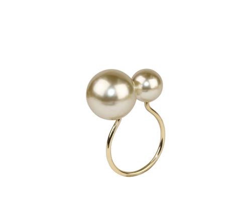 Kim Seybert Napkin Ring Pearl