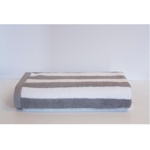 Espalma 700 Stripe Beach Towel - Silver