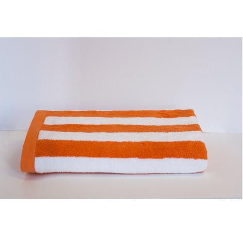 Espalma 700 Stripe Beach Towel - Tangerine