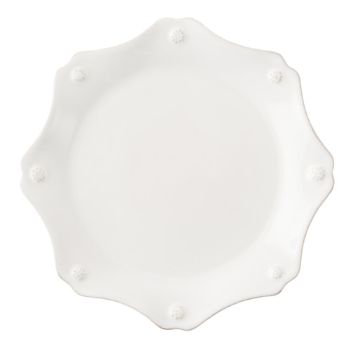 Juliska Berry & Thread Whitewash Scalloped Salad Plate