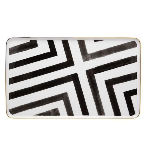 "Christian La Croix Sol & Sombra Rectangular Platter 16.5"""