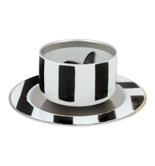 Christian La Croix Sol & Sombra Tea Cup & Saucer 9oz