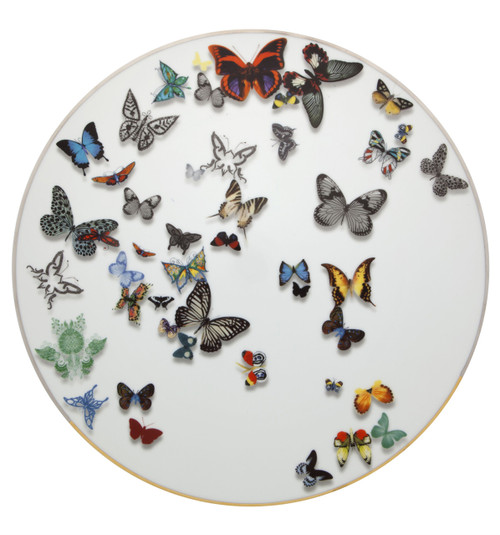 Christian La Croix Butterfly Parade Charger plate 13""