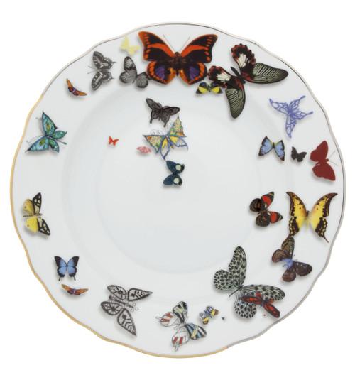 "Christian La Croix Butterfly Parade Soup Plate 9"""