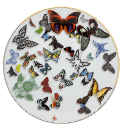 "Christian La Croix Butterfly Parade Dessert/Salad plate 7.5"""