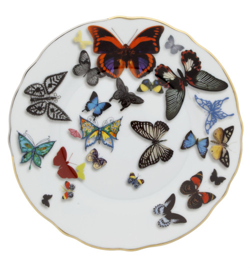 Christian La Croix Butterfly Parade Bread & Butter plate 6 2/3""