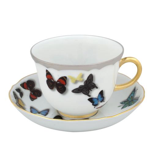 Christian La Croix Butterfly Parade Tea cup & Saucer 8oz