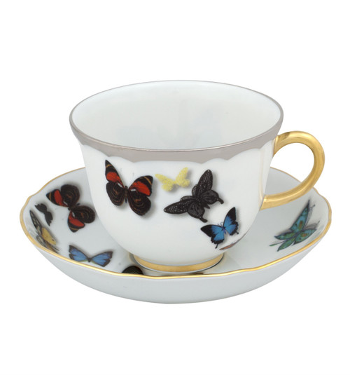 Christian La Croix Butterfly Parade Tea cup & Saucer 8oz