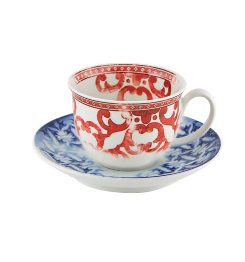 Vista Alegre Timeless Tea cup and Saucer 12oz