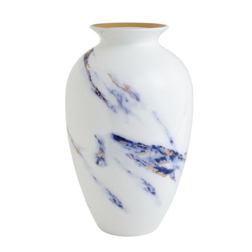 """Prouna Marble Azure 12"""" Urn Vase"""