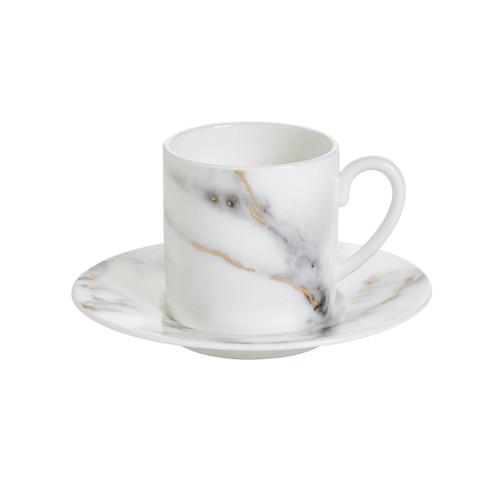 Prouna Marble Venice Fog - Espresso Cup & Saucer