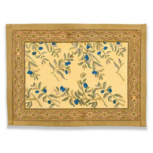 Caravan Olive Tree Placemat Gold/Blue-15X18