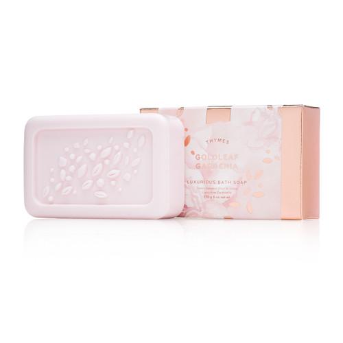 Thymes Goldleaf Gardenia Luxurious Bath Soap