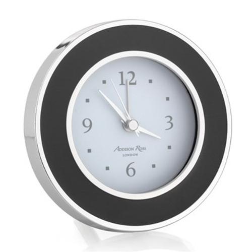 Addison Ross Black Enamel Alarm Clock