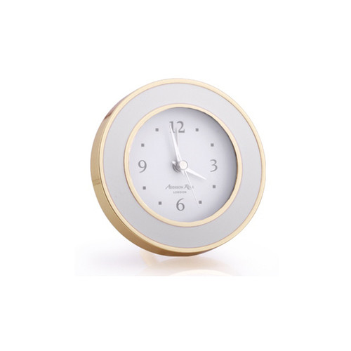 Addison Ross Chiffon & Gold Enamel Alarm Clock