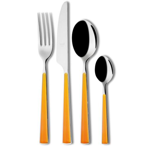Mepra Primavera 24pc Flatware Set - Orange