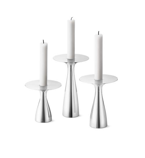 Georg Jensen Alfredo Candleholders - 3 Piece Set