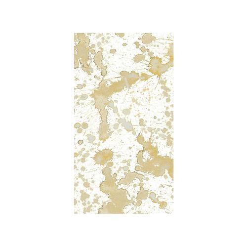 Caspari Splatterware Gold - Guest Towel