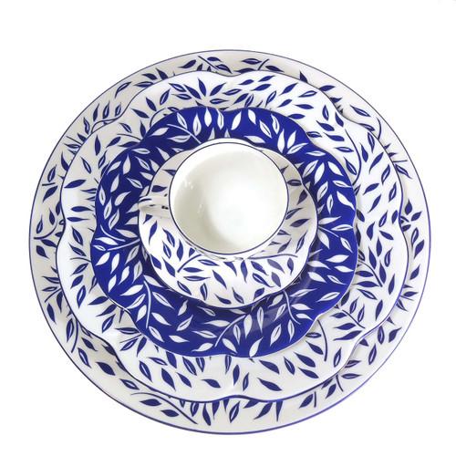 Royal Limoges Olivier Blue Rectangular Cake Plate
