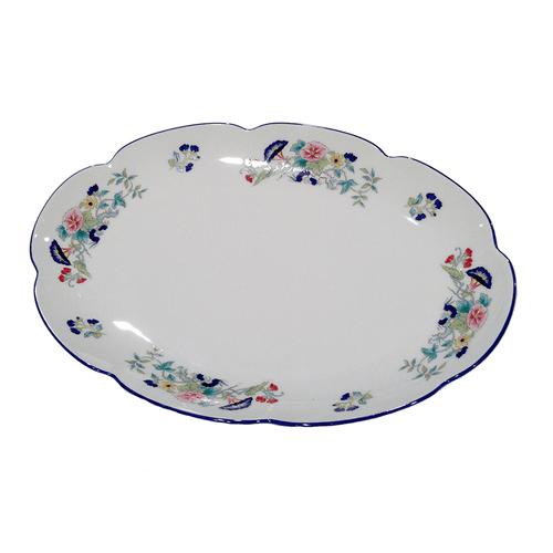 Royal Limoges Paradis Bleu Oval Platter - Medium