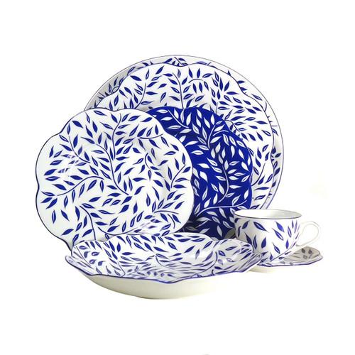 Royal Limoges Olivier Blue Round Deep Platter
