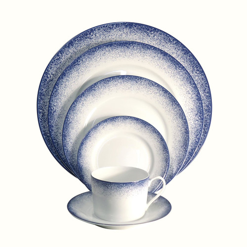 Royal Limoges Fire Blue Coffee Saucer