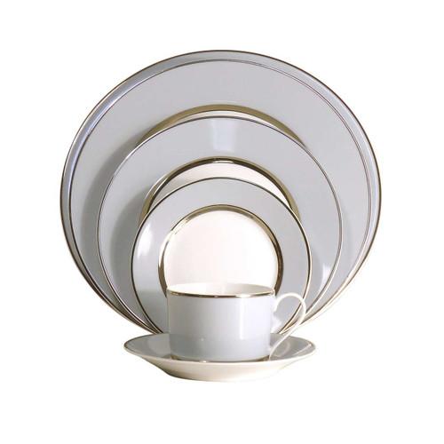 Royal Limoges Mak Grey Platinum Rectangular Cake Platter