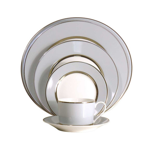 Royal Limoges Mak Grey Platinum Cream Soup Saucer
