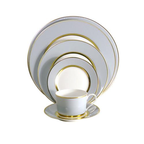 Royal Limoges Mak Grey Gold Round Cake Platter
