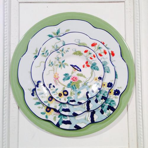 Royal Limoges Paradis Bleu Round Pie Platter