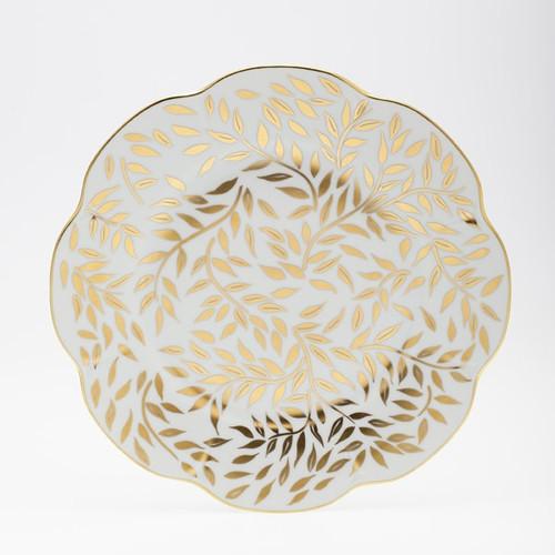 Royal Limoges Olivier Gold Dinner Plate