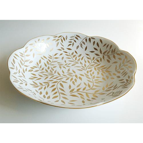 Royal Limoges Olivier Gold Round Deep Platter