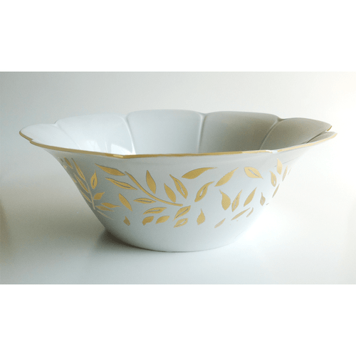 Royal Limoges Olivier Gold Salad Bowl