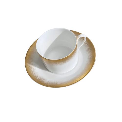 Royal Limoges Golden Fire Breakfast Saucer