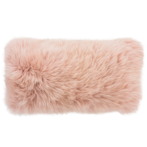 Pine Cone Hill Longwool Tibetan Sheepskin Decorative Pillow, 11x22""