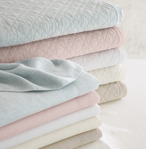 Pine Cone Hill Washed Linen Quilt