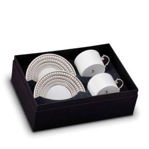 L'Objet Perlee Tea Cup & Saucer - Set of 2