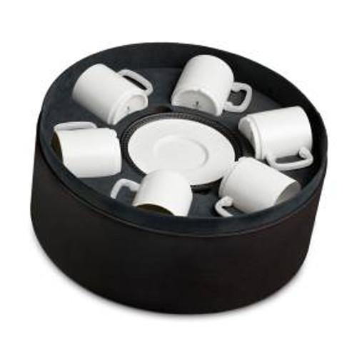 L'Objet Soie Tressée Espresso Cup + Saucer (Set of 6)