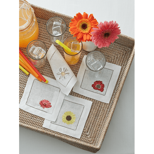 Sferra Fiori Cocktail Napkins