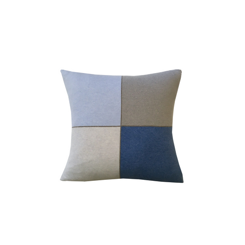 Rani Arabella 4 Checks Cashmere Blend Pillow - 21x21