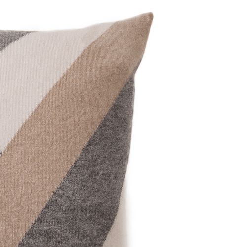 "Rani Arabella ""V"" Pillow - Sandy/Gray - 24x24"