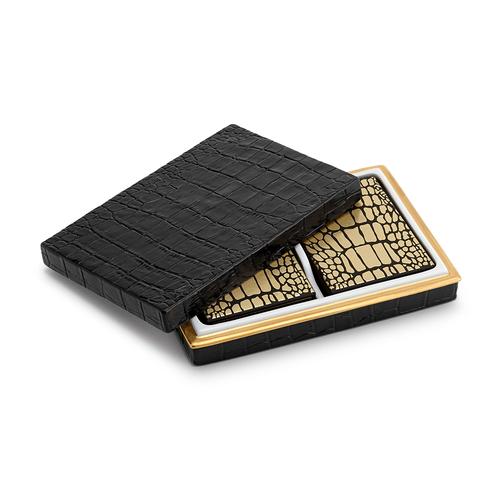 L'Objet Crocodile Box with Playing Cards (2 Decks)