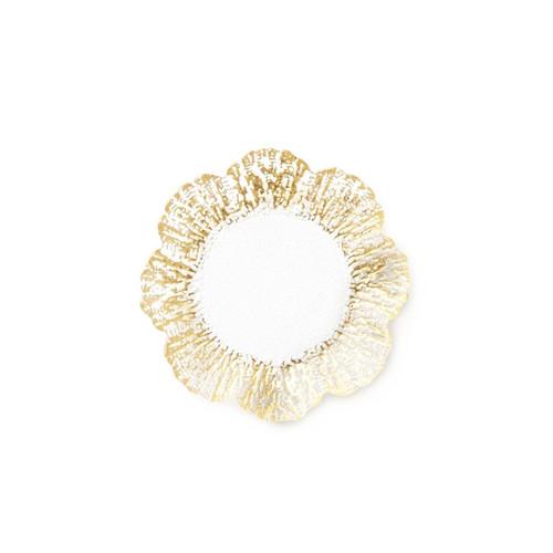 Vietri Rufolo Glass Gold Canape Plate