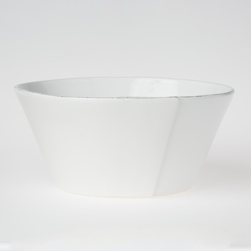 Vietri Lastra White Stacking Serving Bowl