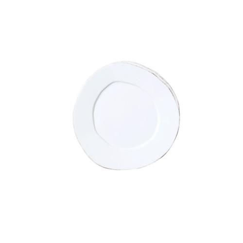 Vietri Lastra White Canape Plate