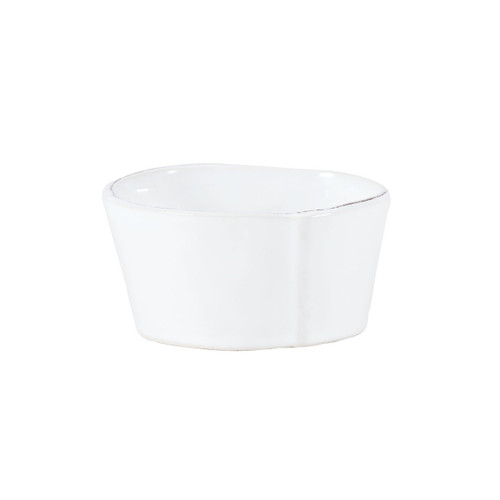 Vietri Lastra White Condiment Bowl